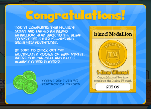 poptropica reality tv island guide