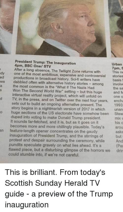 bbc one tv guide sunday