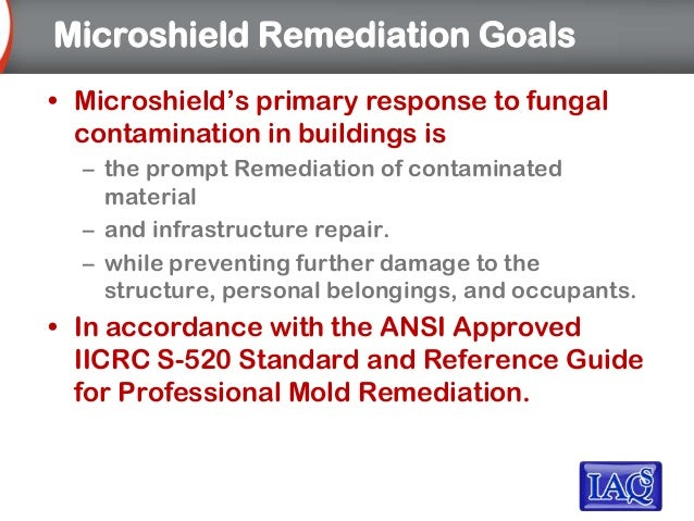iicrc s520 standard and reference guide for professional mold remediation