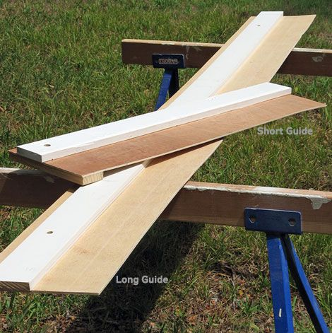 how to make a circular saw guide