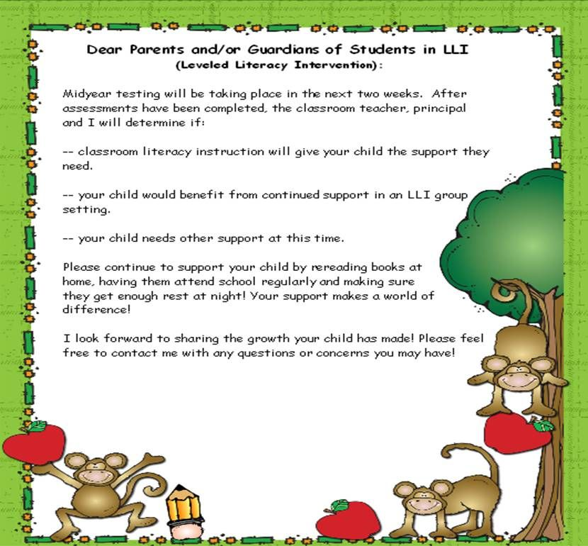 fountas and pinnell guided reading checklist